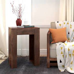 Epsilon Side Table (Teak Finish) by Urban Ladder - Picture Design 1 - 218182