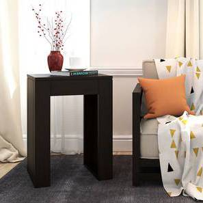 Epsilon Side Table (Mahogany Finish) by Urban Ladder - Picture Design 1 - 218188