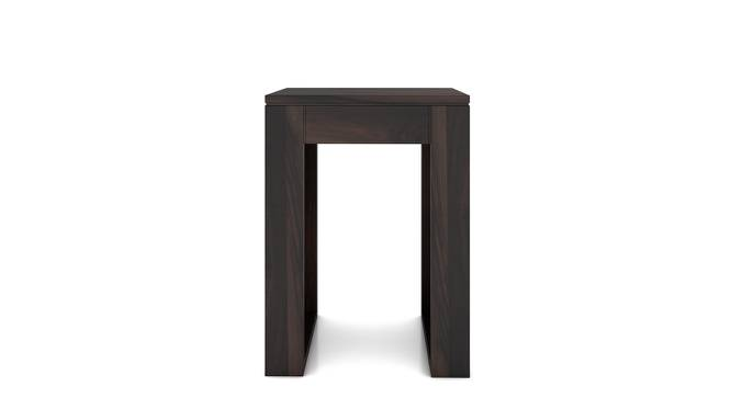 Epsilon Side Table (Mahogany Finish) by Urban Ladder - Design 1 Front View - 218189