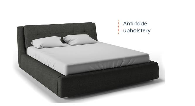 Stanhope Hydraulic Upholstered Storage Bed (Queen Bed Size, Charcoal Grey) by Urban Ladder - Design 1 Half View - 218236