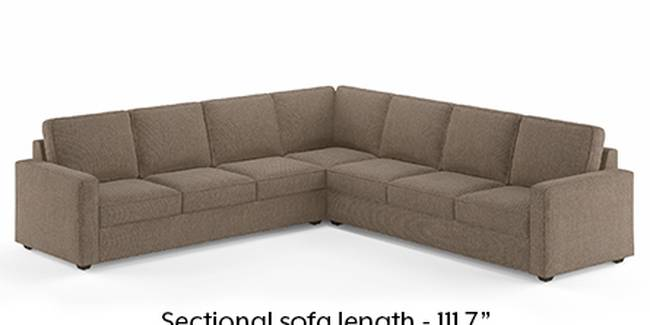 Apollo Sofa Set (Mist, Fabric Sofa Material, Regular Sofa Size, Soft Cushion Type, Corner Sofa Type, Corner Master Sofa Component, Regular Back Type, Regular Back Height)