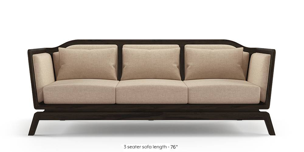 Satori Wooden Sofa (Macadamia Brown) by Urban Ladder