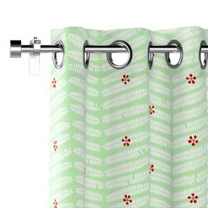 "Gulmohar Window Curtains - Set Of 2 (Multi Colour, 54"" x 60"" Curtain Size, Pinnate Pattern) by Urban Ladder"