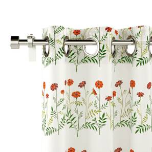 "Marigold Window Curtains - Set Of 2 (Multi Colour, 54"" x 60"" Curtain Size) by Urban Ladder"