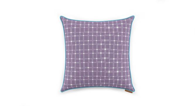 "Overlay Cushion Cover - Set Of 2 (Purple, 18"" X 18"" Cushion Size, Asscher Pattern) by Urban Ladder"