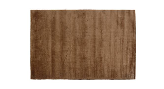 "Rubaan Viscose Rug (152 x 244 cm  (60"" x 96"") Carpet Size, Bronze) by Urban Ladder - Front View Design 1 - 218711"