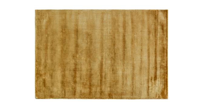 "Rubaan Viscose Rug (91 x 152 cm  (36"" x 60"") Carpet Size, Old Gold) by Urban Ladder - Front View Design 1 - 218728"