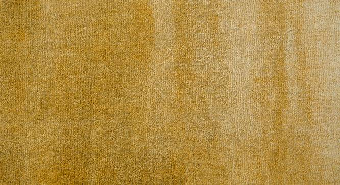 "Rubaan Viscose Rug (122 x 183 cm  (48"" x 72"") Carpet Size, Old Gold) by Urban Ladder - Design 1 Top Image - 218735"