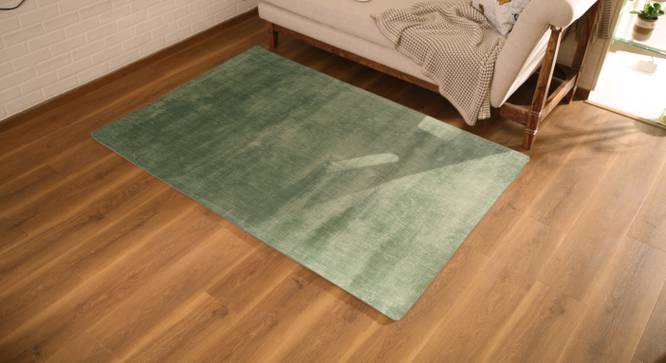 "Rubaan Viscose Rug (91 x 152 cm  (36"" x 60"") Carpet Size, Teal) by Urban Ladder - Design 1 Full View - 218743"