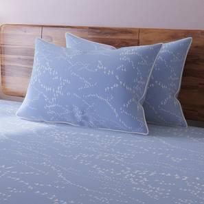Skyscape Bedsheet Set (Blue, King Size, Flock Pattern) by Urban Ladder