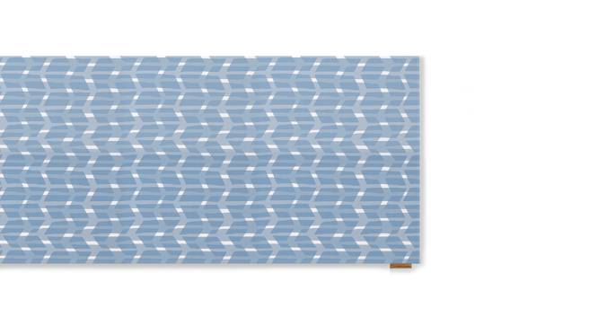 Overlay Table Runner (Blue, Akimbo Pattern) by Urban Ladder