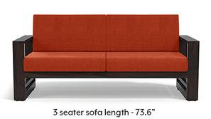 Parsons Wooden Sofa - American Walnut Finish (Lava)