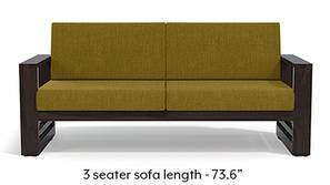 Parsons Wooden Sofa - American Walnut Finish (Olive Green)