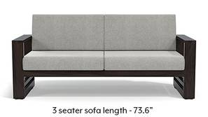 Parsons Wooden Sofa - American Walnut Finish (Vapour Grey)