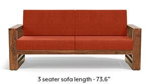 Parsons Wooden Sofa - Teak Finish (Lava)