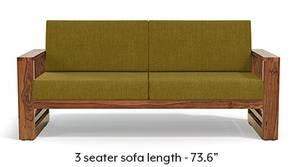 Parsons Wooden Sofa - Teak Finish (Olive Green)