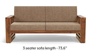 Parsons Wooden Sofa - Teak Finish (Safari Brown)