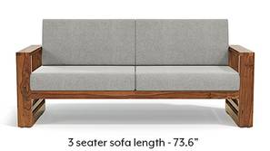 Parsons Wooden Sofa - Teak Finish (Vapour Grey)