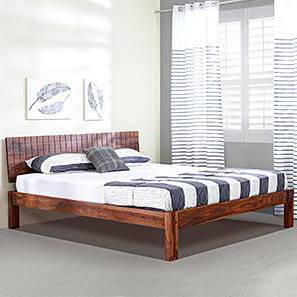 Valencia Bed (Solid Wood) (Teak Finish, Queen Bed Size) by Urban Ladder - Design 1 - 219542