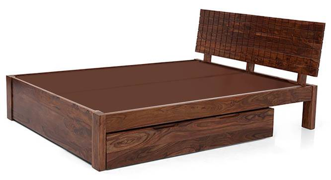 Valencia Storage Bed (Solid Wood) (Teak Finish, King Bed Size, Drawer Storage Type) by Urban Ladder - Design 1 Half View - 219585