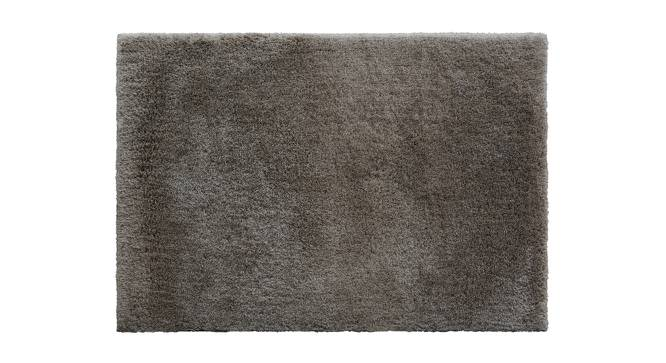 "Sherwood Super Soft Shaggy Rug (Grey, 122 x 183 cm  (48"" x 72"") Carpet Size) by Urban Ladder - Design 1 Top View - 219618"