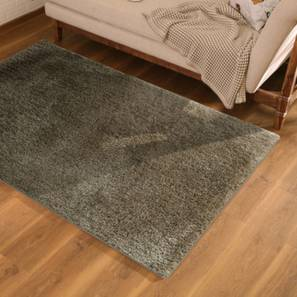"Sherwood Super Soft Shaggy Rug (Grey, 152 x 244 cm  (60"" x 96"") Carpet Size) by Urban Ladder - Design 1 Full View - 219623"