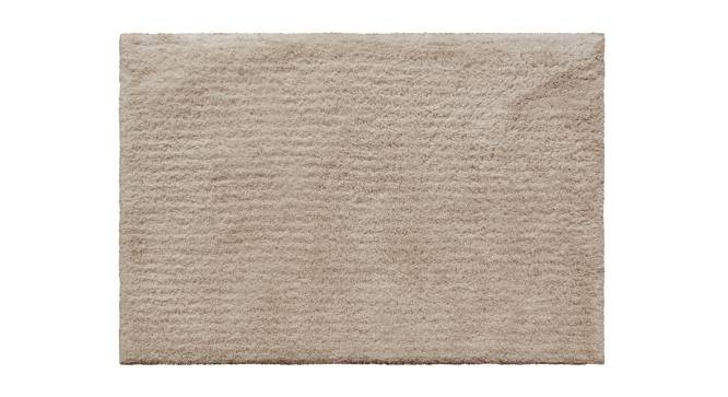 "Sherwood Super Soft Shaggy Rug (91 x 152 cm  (36"" x 60"") Carpet Size, Ivory) by Urban Ladder - Design 1 Top View - 219630"