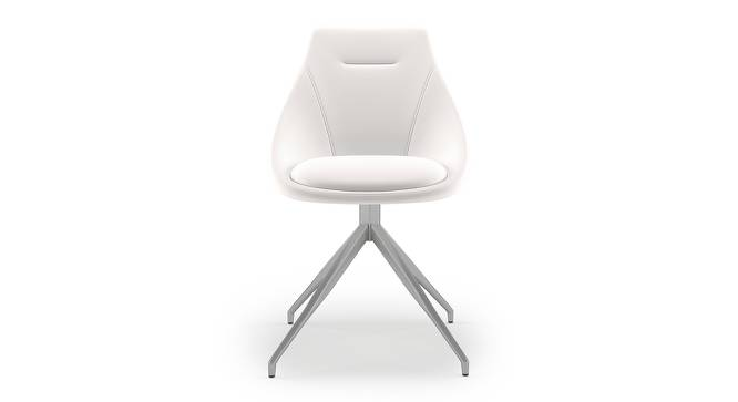 Doris Swivel Accent Chair (White, Leatherette Material) by Urban Ladder - Front View Design 1 - 219912
