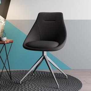 Doris Accent Chair (Dark Grey, Fabric Material) by Urban Ladder