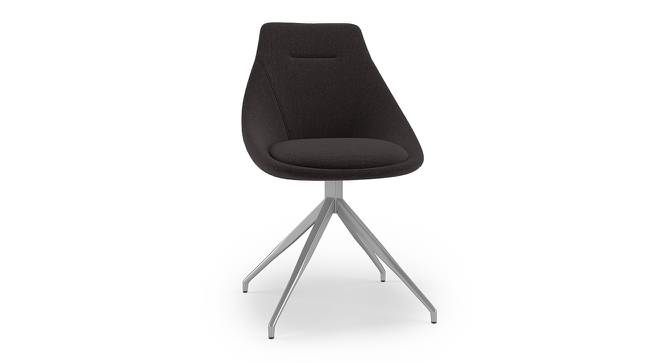 Doris Swivel Accent Chair (Dark Grey, Fabric Material) by Urban Ladder - Front View Design 1 - 219918