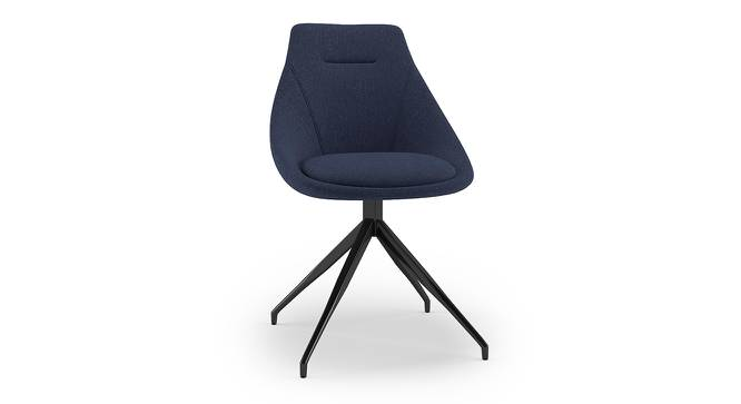 Doris Swivel Accent Chair (Blue, Fabric Material) by Urban Ladder - Front View Design 1 - 219924