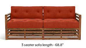 Raymond Wooden Sofa - Teak Finish (Lava)