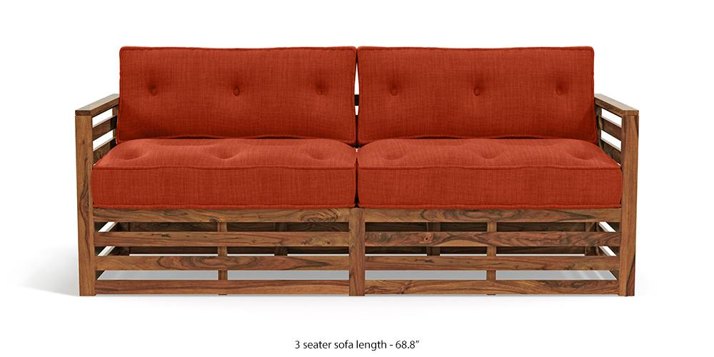 Raymond Low Wooden Sofa - Teak Finish (Lava) by Urban Ladder