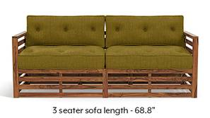Raymond Wooden Sofa - Teak Finish (Olive Green)