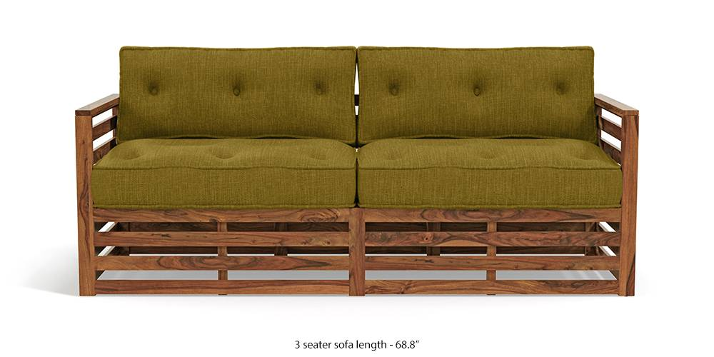 Raymond Wooden Sofa - Teak Finish (Olive Green) (Teak Finish, Teak Finish, 1-seater Custom Set - Sofas, 3-seater Custom Set - Sofas, None Standard Set - Sofas, None Standard Set - Sofas, Olive Green, Olive Green, Fabric Sofa Material, Fabric Sofa Material, Regular Sofa Size, Regular Sofa Size, Regular Sofa Type, Regular Sofa Type) by Urban Ladder - - 220061