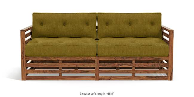 Raymond Wooden Sofa - Teak Finish (Olive Green) (Teak Finish, Teak Finish, 1-seater Custom Set - Sofas, 3-seater Custom Set - Sofas, None Standard Set - Sofas, None Standard Set - Sofas, Olive Green, Olive Green, Fabric Sofa Material, Fabric Sofa Material, Regular Sofa Size, Regular Sofa Size, Regular Sofa Type, Regular Sofa Type)