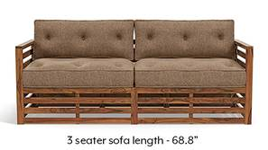 Raymond Wooden Sofa - Teak Finish (Safari Brown)