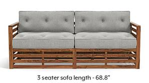 Raymond Wooden Sofa - Teak Finish (Vapour Grey)