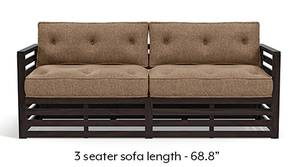 Raymond Wooden Sofa - American Walnut Finish (Safari Brown)