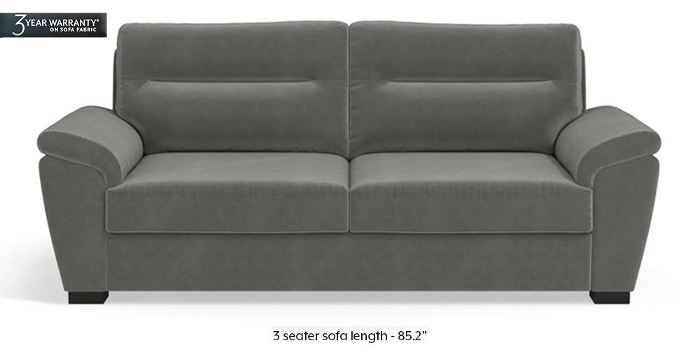 Adelaide Sofa (Ash Grey Velvet) by Urban Ladder