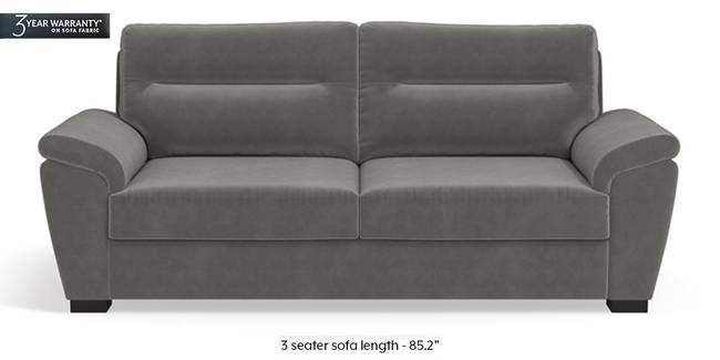 Adelaide Sofa (Ash Grey Velvet) (1-seater Custom Set - Sofas, None Standard Set - Sofas, Fabric Sofa Material, Regular Sofa Size, Regular Sofa Type, Ash Grey Velvet)