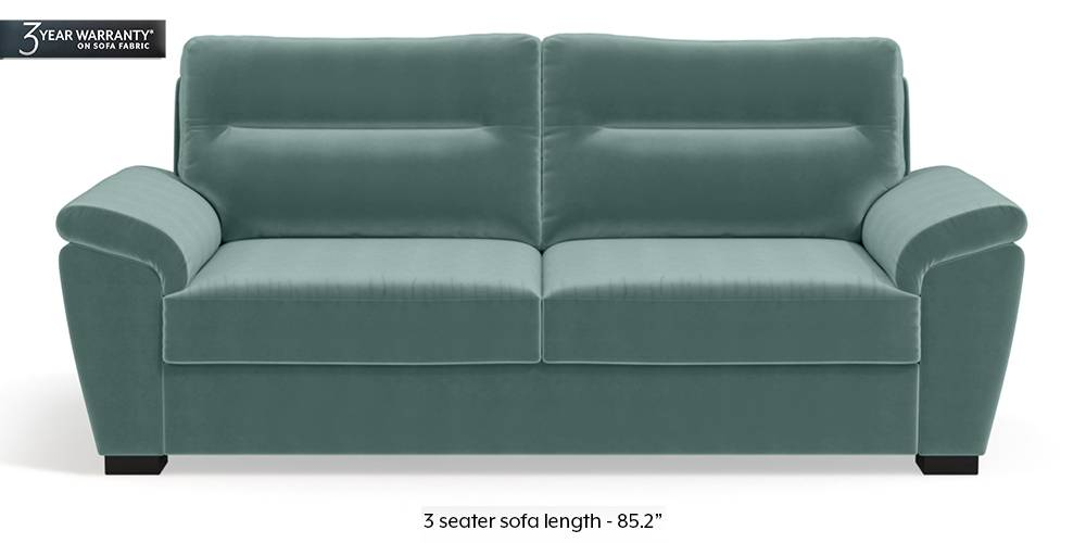 Adelaide Sofa (Dusty Turquoise Velvet) by Urban Ladder