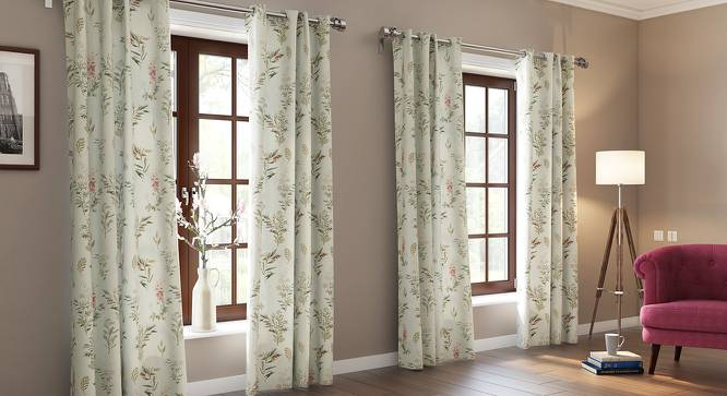 "Ashford Door Curtains (Set of 2) (Multi Colour, 54""x84"" Curtain Size) by Urban Ladder"