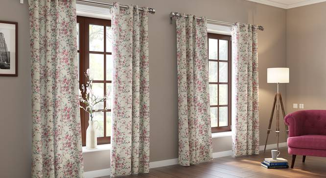 "Benmore Jacquard Door Curtains (Set of 2) (Multi Colour, 54"" x 108"" Curtain Size) by Urban Ladder"