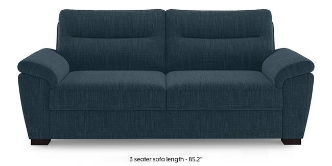 Adelaide Sofa (Indigo Blue) (1-seater Custom Set - Sofas, None Standard Set - Sofas, Indigo Blue, Fabric Sofa Material, Regular Sofa Size, Regular Sofa Type)