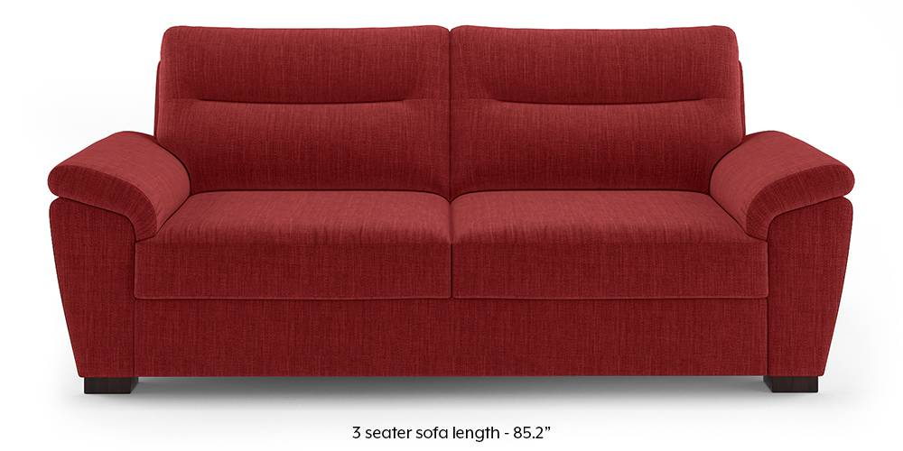 Adelaide Sofa (Salsa Red) (1-seater Custom Set - Sofas, None Standard Set - Sofas, Fabric Sofa Material, Regular Sofa Size, Regular Sofa Type, Salsa Red) by Urban Ladder