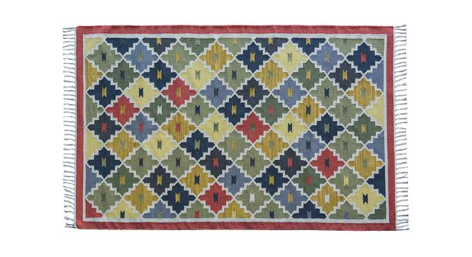 "Kayseri Dhurrie (122 x 183 cm  (48"" x 72"") Carpet Size, Multi Colour) by Urban Ladder - Design 1 Top View - 220987"