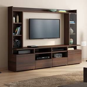 "Celestin XL 74"" TV Unit (Dark Walnut Finish) by Urban Ladder"