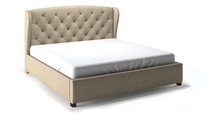 Holmebrook Upholstered Bed with Dreamlite Bonnel Spring Mattress (King Bed Size, Oak Beige ) by Urban Ladder