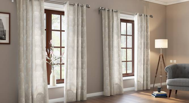 """Wollerton Jacquard Door Curtains (Set of 2) (Multi Colour, 54"""" x 108"""" Curtain Size) by Urban Ladder"""